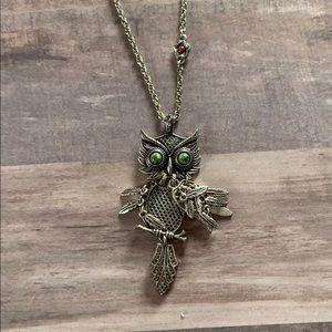 Lucky Brand Shaky Owl Pendant Necklace Silvee